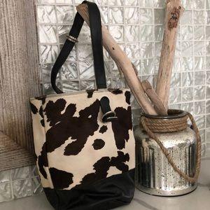 Beautiful Donald Pliner Hide Bucket Shoulder Bag